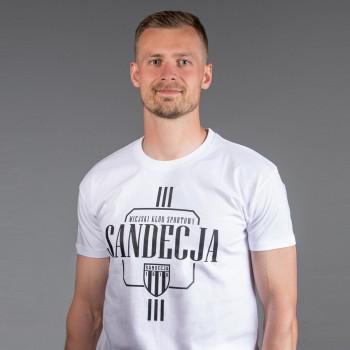 T-shirt męski biały wzór 1