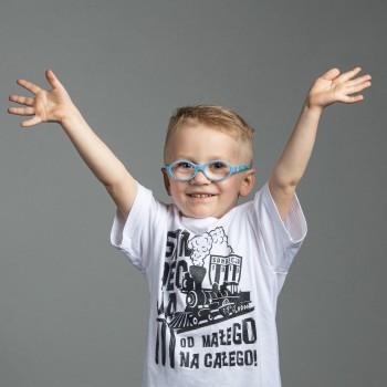 T-Shirt dziecięcy biały wzór 2