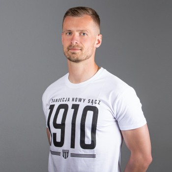 T-shirt męski biały wzór 2