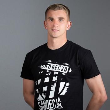 T-shirt męski czarny wzór 1